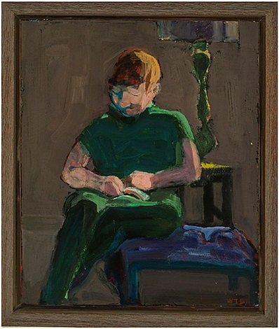 man in green, reading by william theophilus brown
