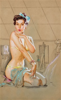 seated pin-up by knute o. munson