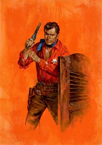 the lone deputy, paperback cover by robert stanley