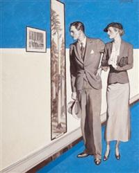 couple observing art by courtney allen