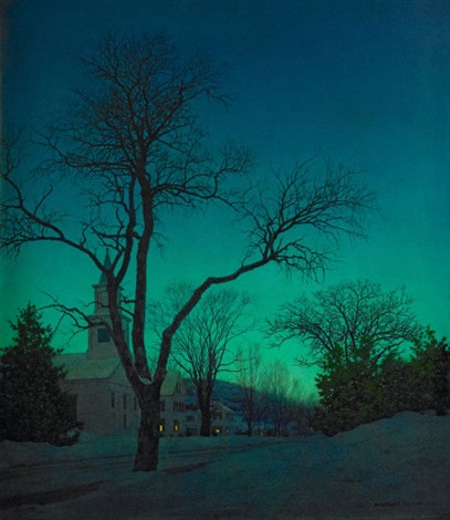 at close of day by maxfield parrish