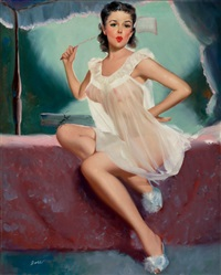 pin-up in a negligee by peter darro
