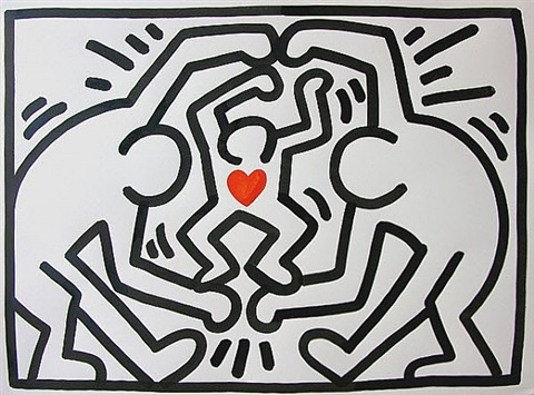 untitled-family by keith haring
