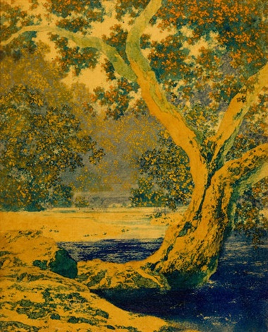 autumn brook study by maxfield parrish
