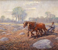 ploughing the fields by henry j(arvis) peck