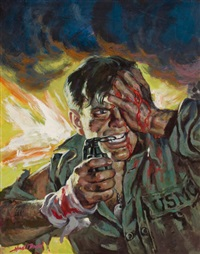 blood, guts, and grenades, man's cavalcade cover by howell dodd