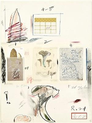 natural history, part i: mushrooms, no. vi by cy twombly