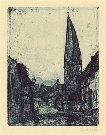 schiefer turm in soest by emil nolde