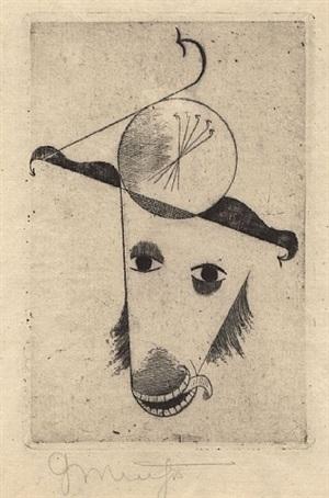 tierkopf (widder) by georg muche