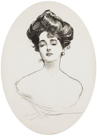 gibson girl, a widow and her friends, book cover by charles dana gibson