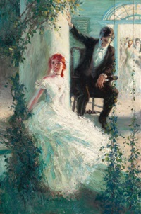 young couple having a casual conversation by john harmon cassel