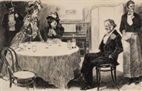 the education of mr. pipp, life magazine story illustration by charles dana gibson