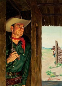 duel on the range, paperback cover by george gross