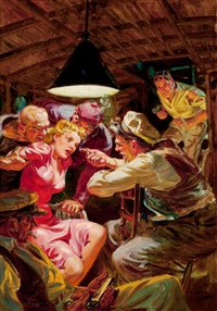 ten detective aces (pulp cover, may 1941) by norman saunders