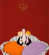 under the mistletoe, vanity fair cover illustration by anne hariet (sefton) fish