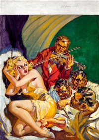 black book detective (pulp cover, february 1936) by norman saunders