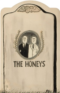 the honeys, playbill illustration by charles addams