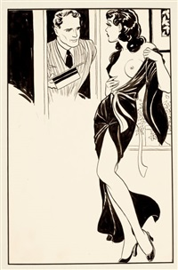 untitled (pulp illus.) by norman saunders