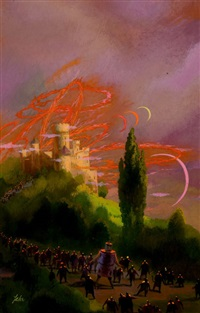 enchanted pilgrimage, book cover by paul lehr