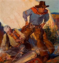king kolt, wild west weekly magazine cover, november 16, 1935 by howard scott