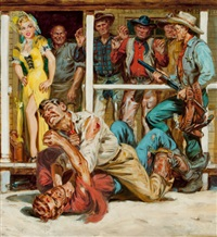 western short stories (cover study) by norman saunders