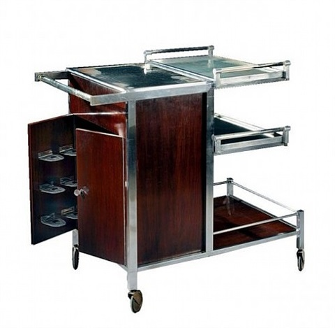 bar cart by jacques adnet