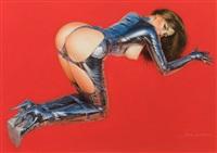pin-up in leather by hajime sorayama