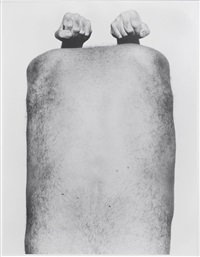 self portrait (back with arms) by john coplans