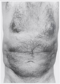 self portrait (torso, front) by john coplans