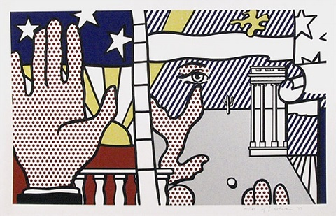 inaugural print by roy lichtenstein