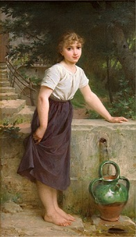 gathering water by emile munier