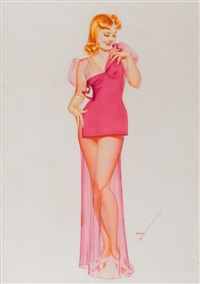 speaking of figures, old gold cigarette advertisement by george petty