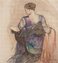 back view, mural preliminary by violet oakley