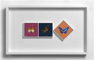 hope and love and peace (+ peace and hope and love; 2 triptychs) by damien hirst