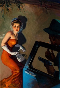 skeleton in the closet, private detective stories pulp cover, september by hugh j. ward