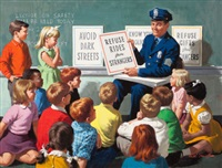 safety lecture to young students by arthur saron sarnoff