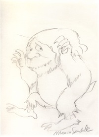 wild thing, preliminary sketch by maurice sendak