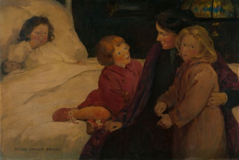 the story hour harpers bazaar story illustration by jessie willcox smith