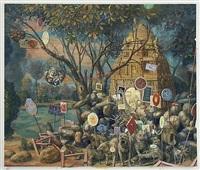 millennium burial mound by julie heffernan