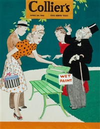 wet paint, collier's magazine cover by robert o. reid