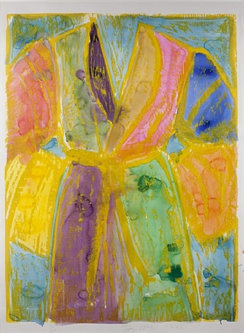 yellow watercolours by jim dine