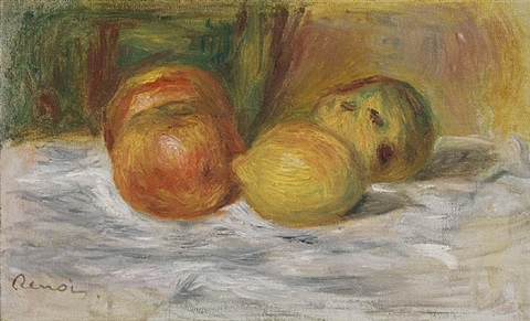 nature morte au fruits by pierre-auguste renoir