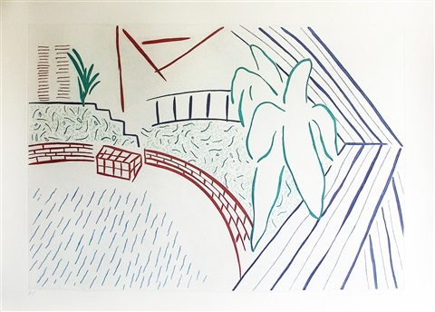 my pool and terrace from 8 x 8 by david hockney