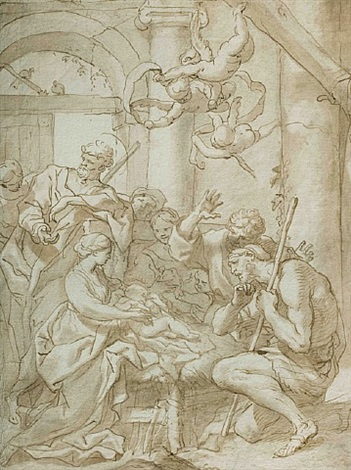 adoration of the shepherds by domenico piola