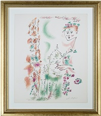 venise en fleurs from je reve (i dream) portfolio (inventory #5909d) by andré masson