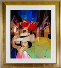 cubist market in the village by ernesto gutierrez