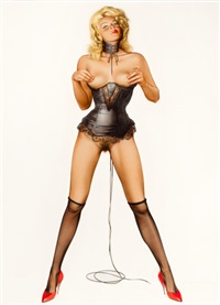 pin-up in black lingerie by hajime sorayama