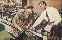 arrow men, arrow shirts advertisement for cluett peabody & company by albert l. dorne
