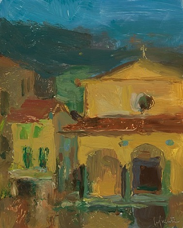 church nocturne in san giovanni, valdarno by christine lafuente