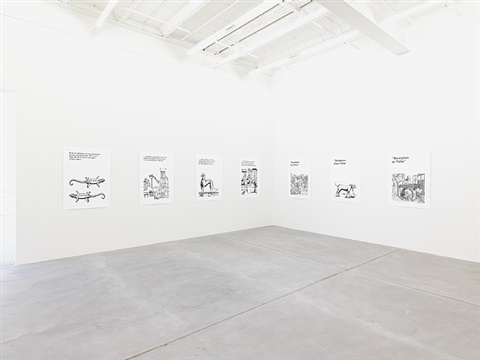 exhibition view by liam gillick